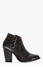 JEFFREY CAMPBELL Black Washed & gunmetal Westin boots for women