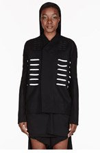 RICK OWENS Black laced Morse Dagger Jacket for women