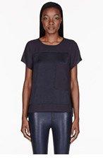 HELMUT LANG Black & blue Frozen Overszetun T-shirt for women