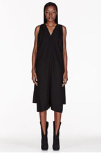RICK OWENS Black caped Romper for women
