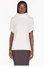 RICK OWENS Ivory Knit Crater Vest for women