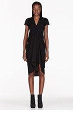 RICK OWENS Black textured Athena Dress for women