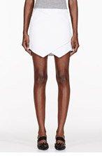 DION LEE white Zip-trimmed Vertigo Wrap Skirt for women