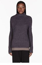RICK OWENS Gret knit Crater Blon Sweater for women