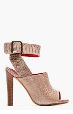 JEFFREY CAMPBELL Beige Leather sneakeskin Gurley heels for women