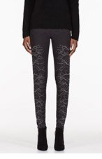 GARETH PUGH Charcoal & silver Faille Embroidered trousers for women