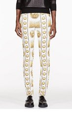 VERSUS White & Gold M.I.A edition Printed jeans for women