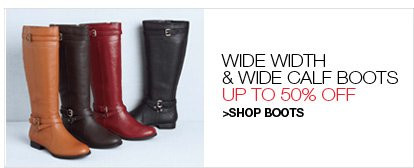 Shop Boots, Up to $50 Off