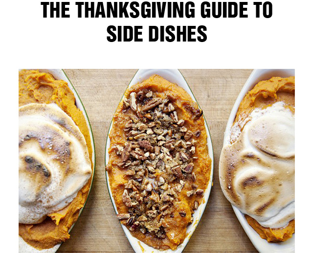 The Thanksgiving Guide To Side Dishes