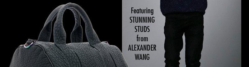 Featuring STUNNING STUDS from ALEXANDER WANG