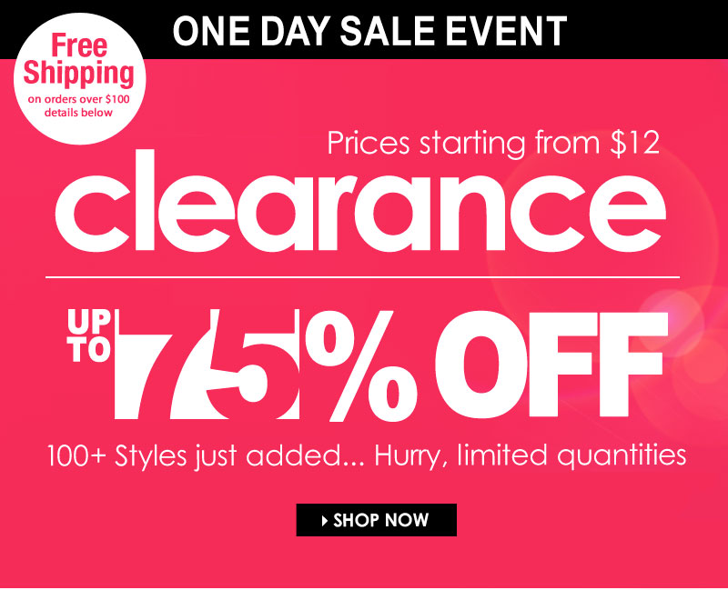 All Day, up to 75% OFF, Sunday Clearance Event!