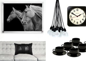 It's Black & White: Home Accents