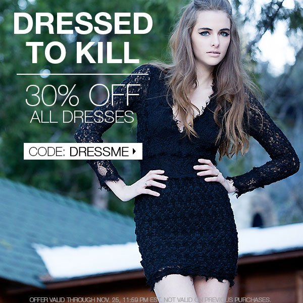 Shop holiday dresses at 30% off. CODE: DRESSME