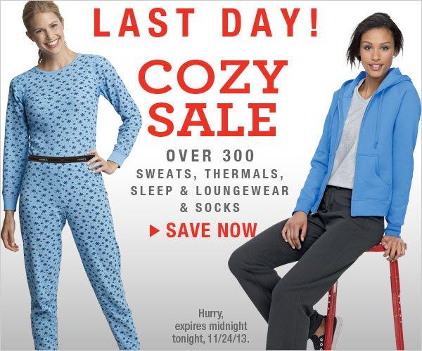 Last Day: Cozy Sale