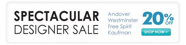 20% Off Spectacular Designer Sale
