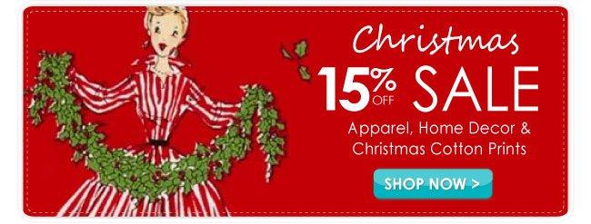 15% off Christmas Sale