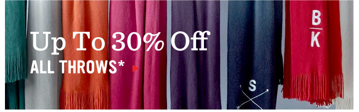 Up To 30% Off All Throws*