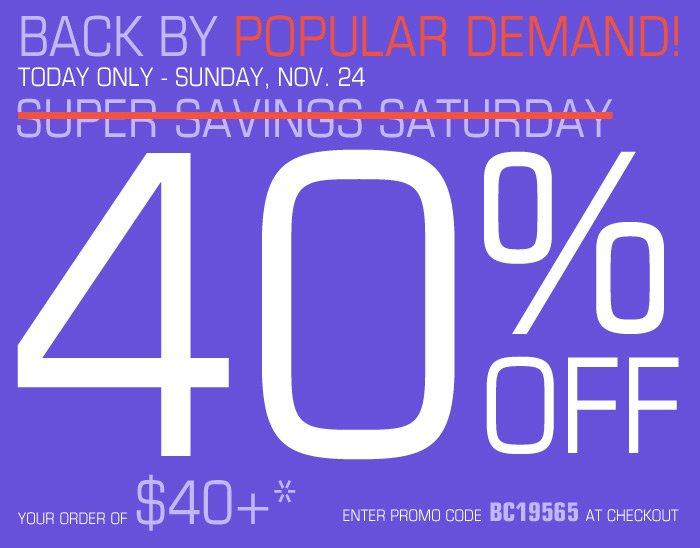 Super Savings Saturday