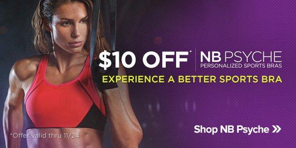 $10 Off NB Psyche Sports Bras