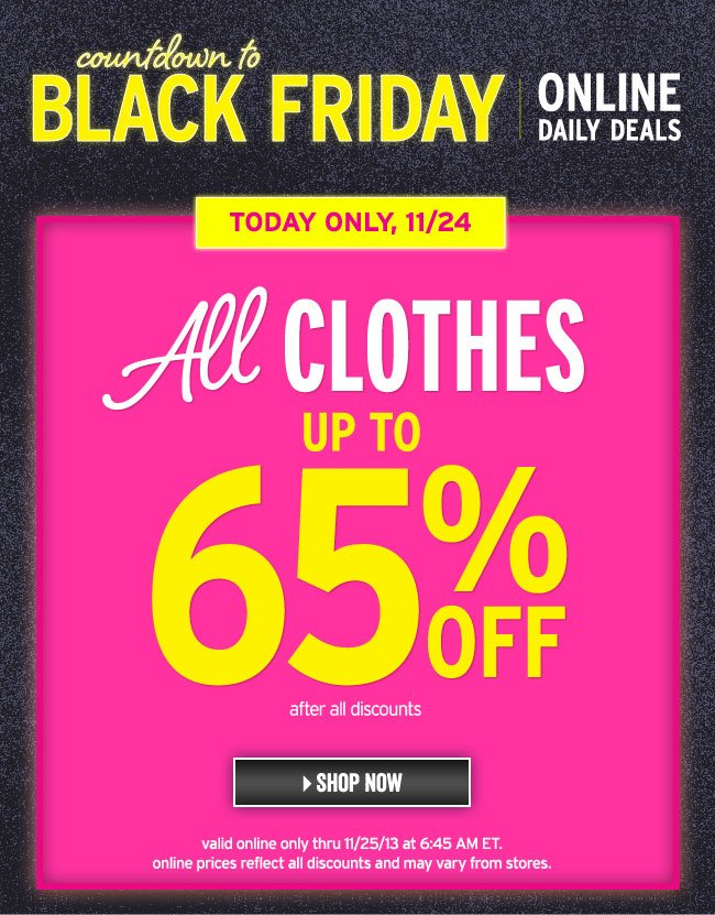 up to 65% off all clothes