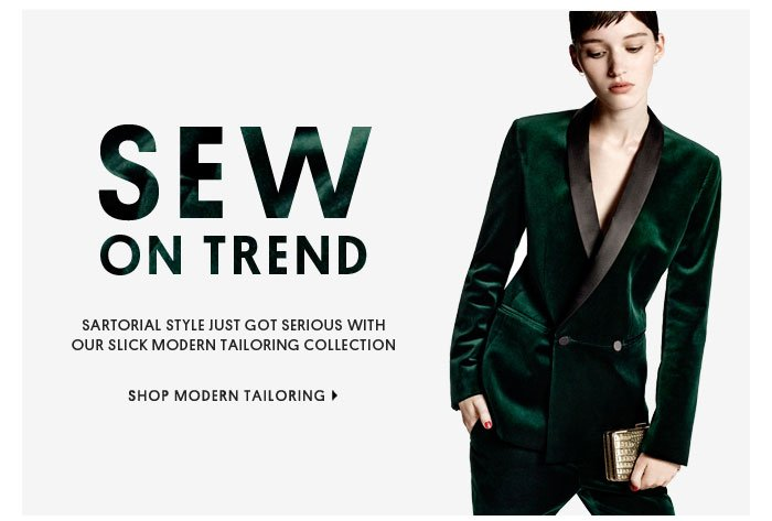 SEW ON TREND - SHOP MODERN TAILORING