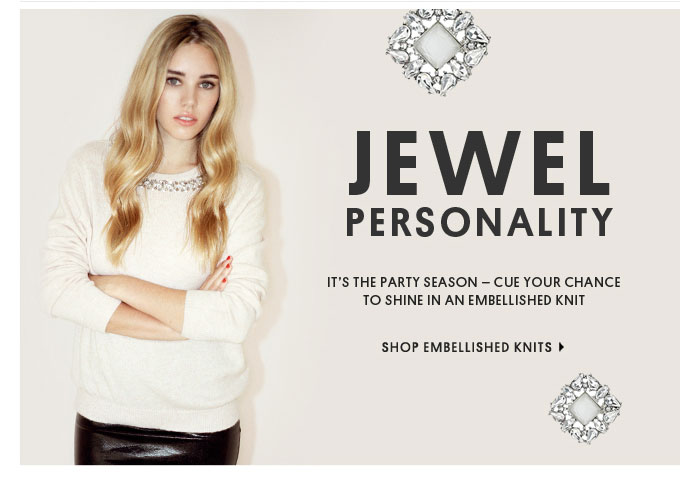 JEWEL PERSONALITY - SHOP EMBELLISHED KNITS