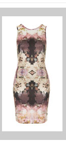 Mirror Bloom V Back Dress
