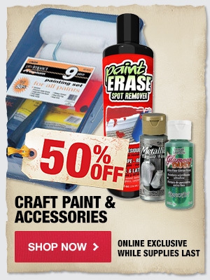 50% OFF Paint & Accessories