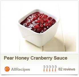 Pear Honey Cranberry Sauce