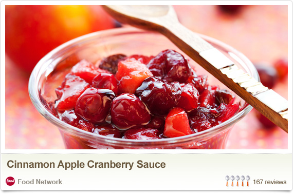 Cinnamon Apple Cranberry Sauce