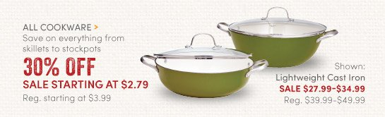 All Cookware - 30% Off