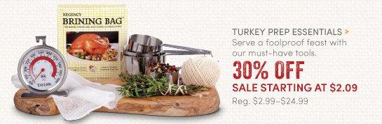 Turkey Prep Essentials - 30% Off