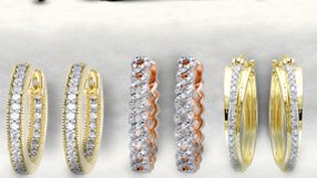 Diamond Accented Hoops and more