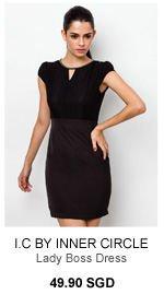 I.C BY INNER CIRCLE Lady Boss Dress