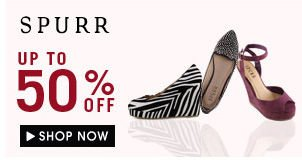 Spurr up to 50% off