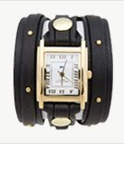 Black Gold Studs Wrap Watch