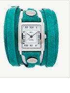 Teal Washed Layer Wrap Watch