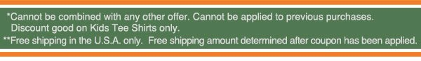 Coupon and Shipping Disclaimers