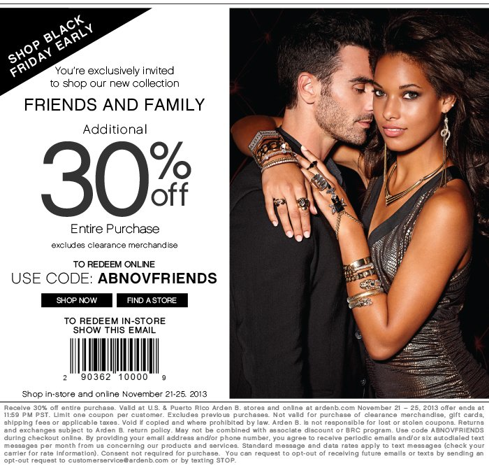 Ends Tomorrow, Friends and Family, 30% OFF