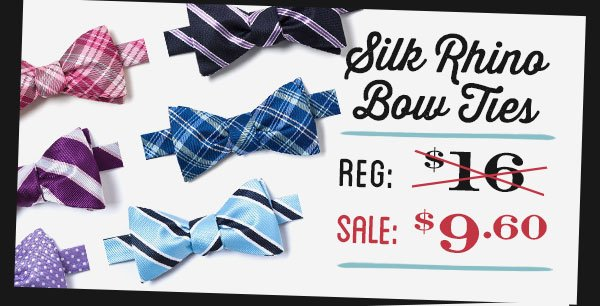Silk Rhino Bow Ties