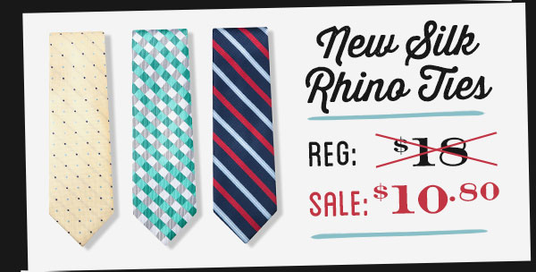Silk Rhino Ties