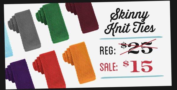 Knit Skinny Ties