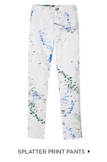 Splatter Print Pants