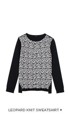 Leopard Knit Sweatshirt