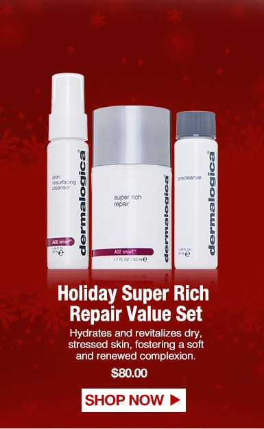 Holiday Super Rich Repair Value SetHydrates and revitalizes dry, stressed skin, fostering a soft and renewed complexion.$80.00Shop Now>>