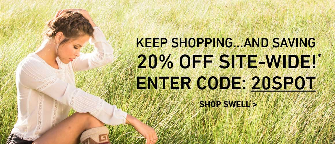 20% Off Site Wide! Enter Code: 20SPOT