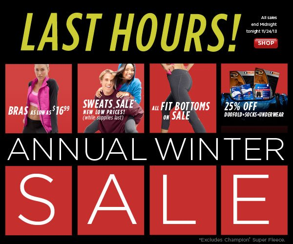 SHOP Annual Winter Sale