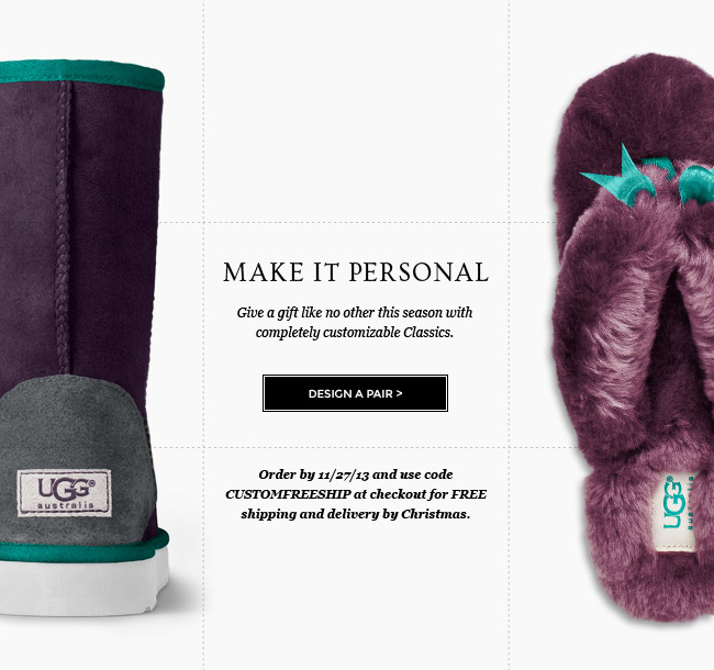 MAKE IT PERSONAL - Design a Pair