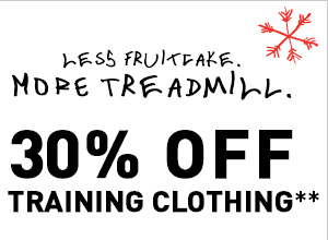 LESS FRUITCAKE MOEW TREADMILL. 30% OFF TRAINING CLOTHING**