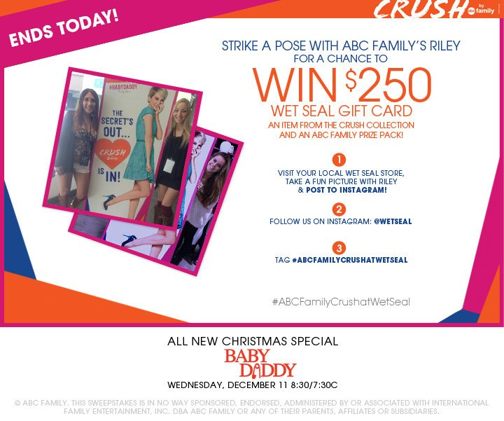 Crush by ABC Family Sweepstakes